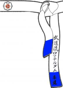 band witblauwe slip